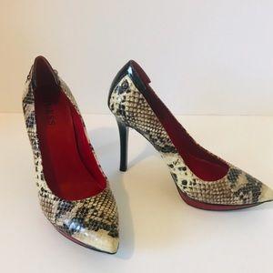 Guess   Snake Skin Printed Heels